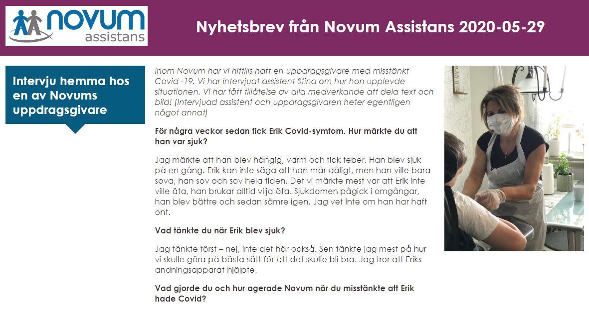 novum assistans nyhetsbrev